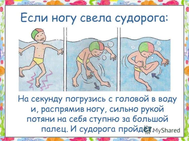 Если в воде свело ногу судорогой