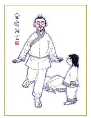 Китайское упражнение Золотой петух стоит на одной ноге