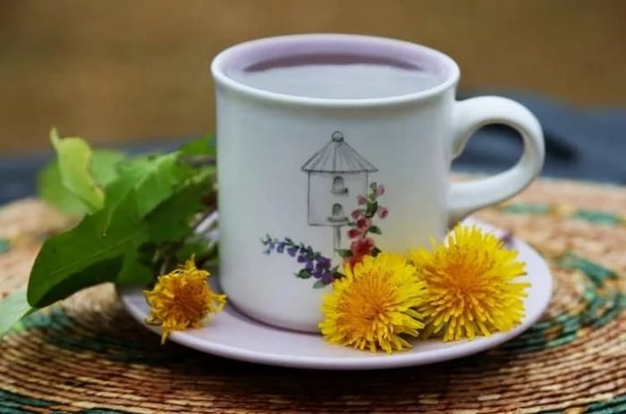 Чай с корней одуванчика