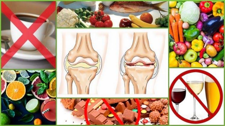 Диета при артрозе и артрите суставов