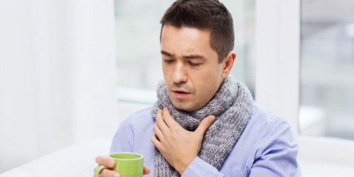 компресс на горле у мужчины