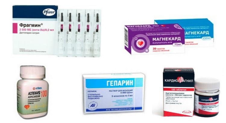 Медикаменты для разжижения крови