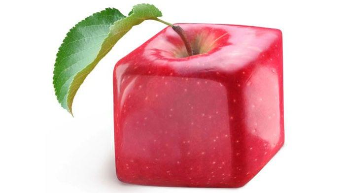 яблоко кубической формы